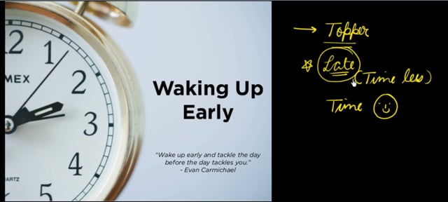 Wake up early Morning to succeed in everything